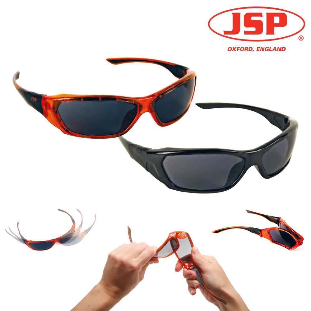 NEW ForceFlex Safety Glasses Orange Smoke Lens Each